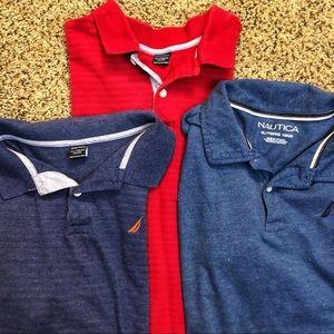 Lot Nautica Collar Shirts Boys XL (18/20)